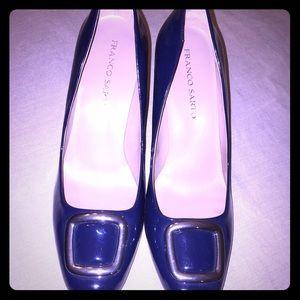 New Franco Sarto size 10M blue patent heels